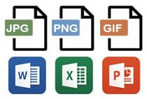 ラベルシールのデザインデータの形式(jpg・png・gif・Microsoft Office